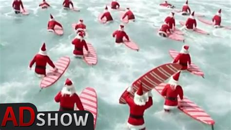 australian christmas surfing santas song youtube