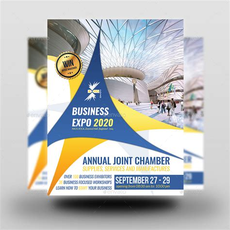 Expo Template Business Expo Flyer Template By Owpictures Graphicriver