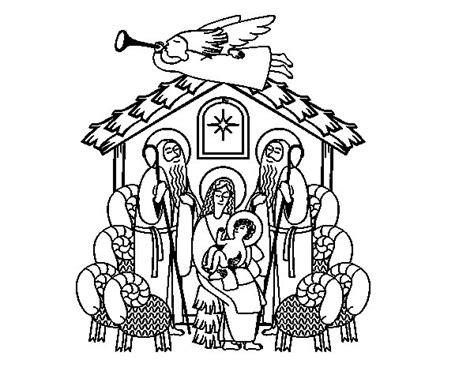 dibujos navideños para colorear portal belen dibujo de el portal de bel 233 n para colorear dibujos net