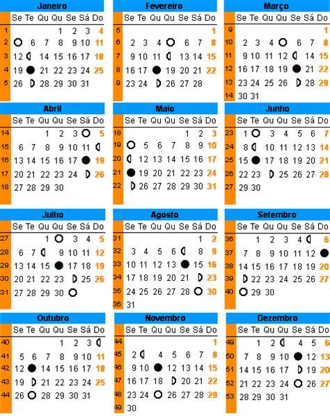 Calendario Da Lua 2015 Calend 225 Lunar De 2015