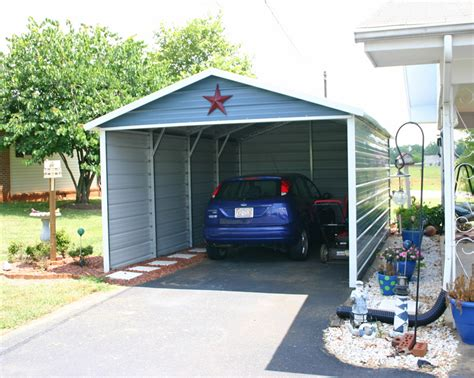 one car carport steel carport