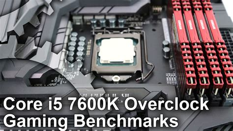 Ntel I5 7600k 3 8ghz Up To 4 2ghz Cache 6mb Box Soc intel i5 7600k stock vs 4 8ghz overclock gaming benchmarks