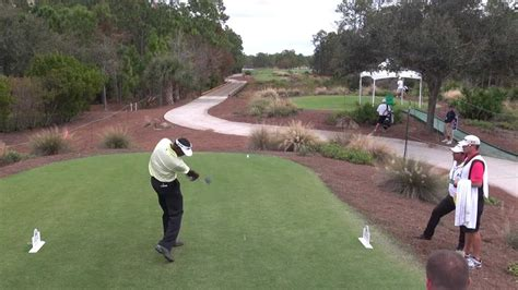 golf swing slow motion down the line golf swing 2012 vijay singh driver elevated down the