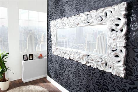 wand mit spiegel gestalten barock spiegel mit silberrahmen es lohnt sich