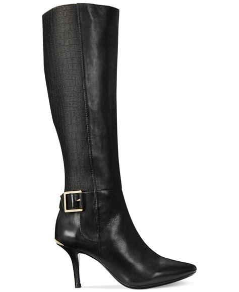 calvin klein boots lyst calvin klein julietta dress boots in black