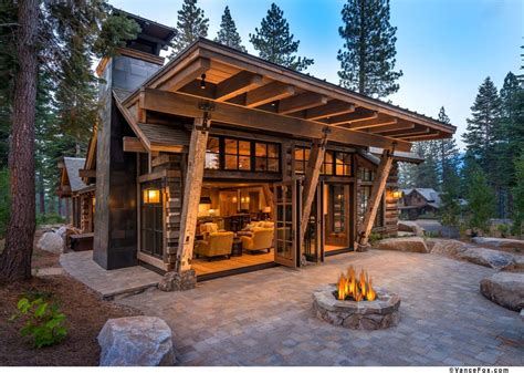modern small cabins mountain home featuring stunning reclaimed wood exterior