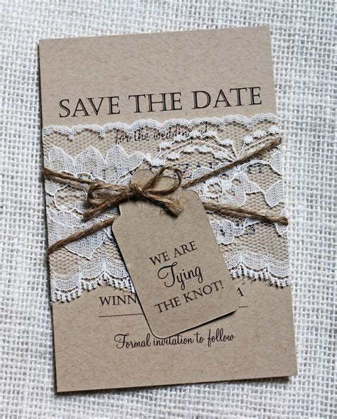 save the date wedding invites ideas lace wedding save the date save the dates rustic wedding