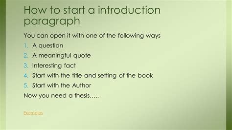 how to write an introduction for a book report how to do a book review ppt