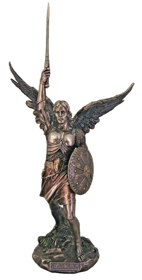 michael s sword you with archangel michael books archangel st michael w shield sword color bronze