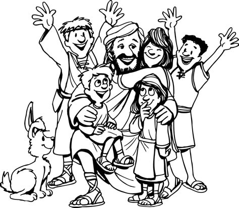 children s coloring pages of jesus coloring pages jesus and the children coloring