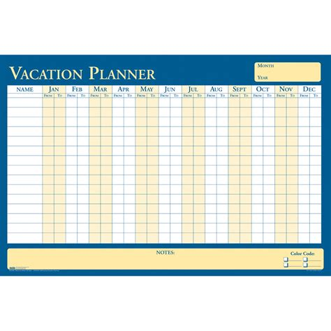 printable weekly vacation planner house of doolittle 639 all purpose laminated vacation