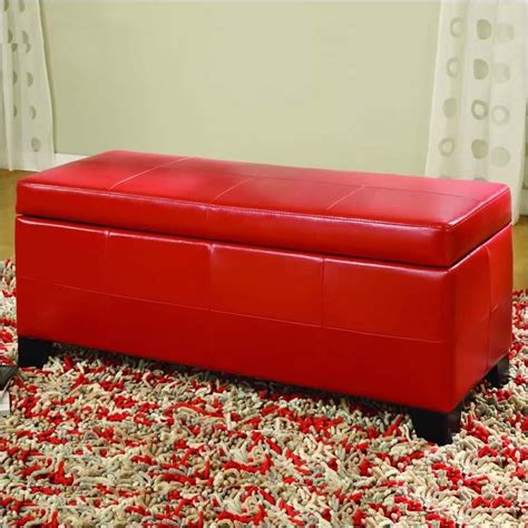 modus upholstered milano blanket storage bench white modus upholstered milano blanket storage bench in red