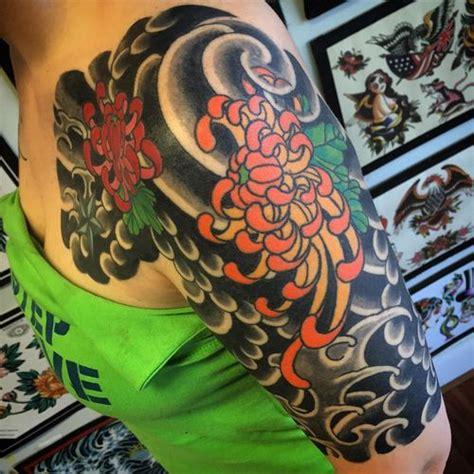 chrysanthemum tattoos meaning  design ideas