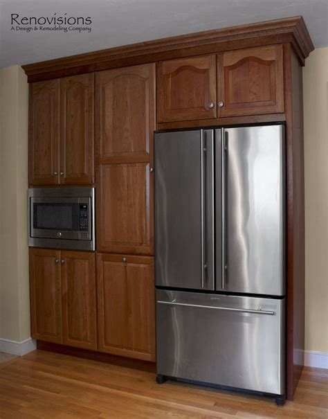 built in kitchen pantry cabinet kitchen remodel by renovisions natural cherry cabinets