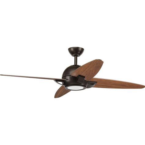ceiling fans antique bronze progress lighting soar collection 54 in led antique