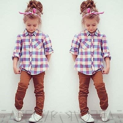 new fashion plaid baby shirt autumn sleeve tops button blouse in