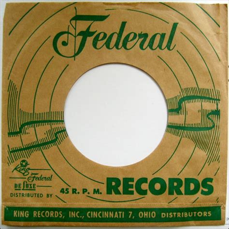 Federal Records Federal Records 45 Paper Sleeve The Brown Superfan Club