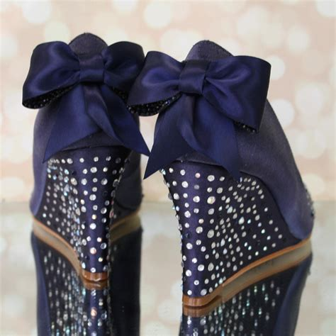 Navy Blue Wedge Wedding Shoes by Navy Blue Wedding Shoes Blue Wedding Shoes Wedding Wedges