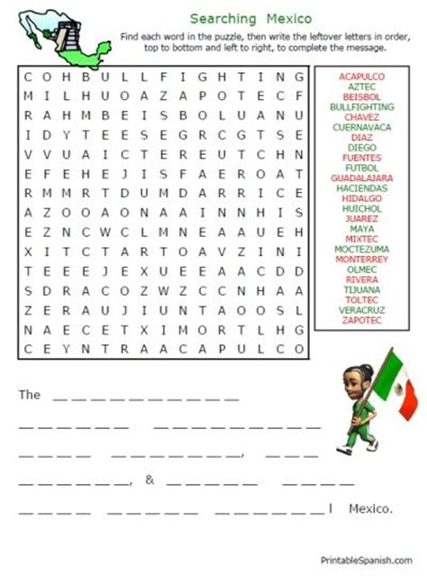 printable word search countries 41 best images about 1st 2nd grade mexico on pinterest