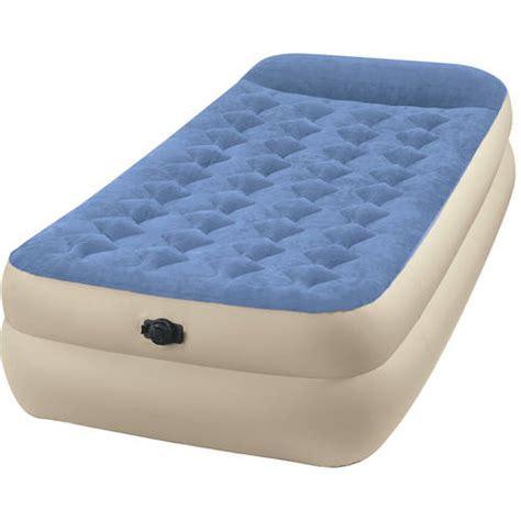 air bed in walmart intex twin 18 quot raised pillow rest airbed mattress