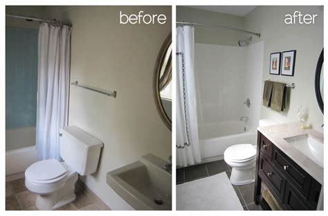 diy bathroom remodel before and after before and after diy bathroom renovation ideas