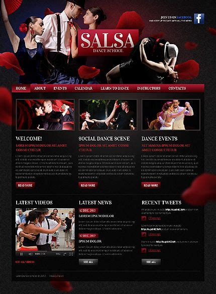 templates for dance website 17 best images about dance website templates on pinterest
