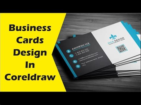 coreldraw business card tutorial how to make business cards design in coreldraw x6 tutorial