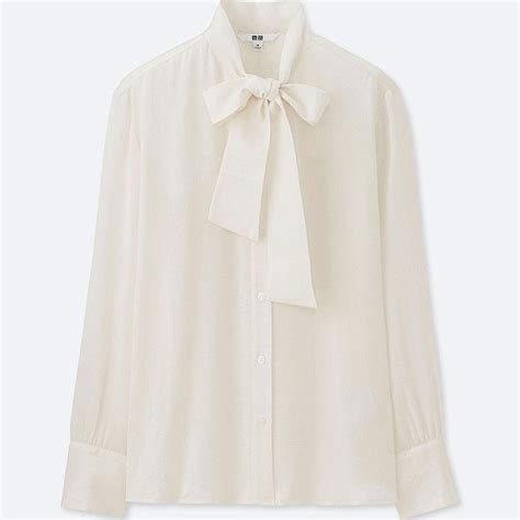 Bow Tie Blouse Sleeve by Satin Bow Tie Sleeve Blouse Uniqlo Us