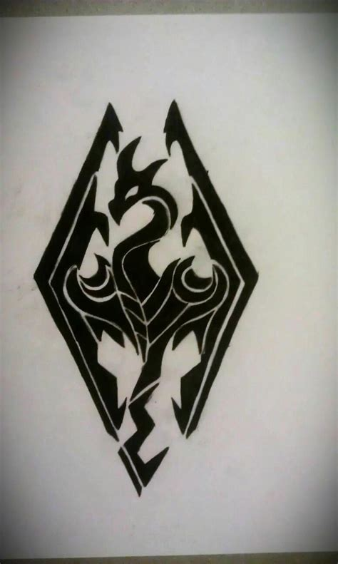 tribal skyrim logo design by mustang inky on deviantart