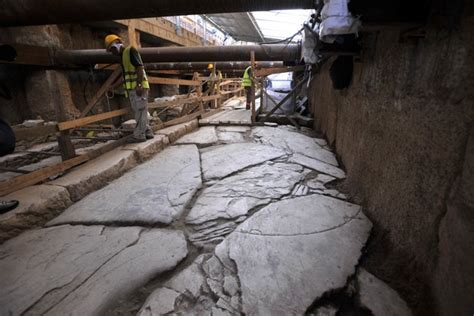 ancient greek roads unearthed ancient road in greece aeshah adlina s weblog