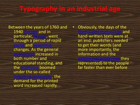 typography evolution the evolution of typography for an industrial age