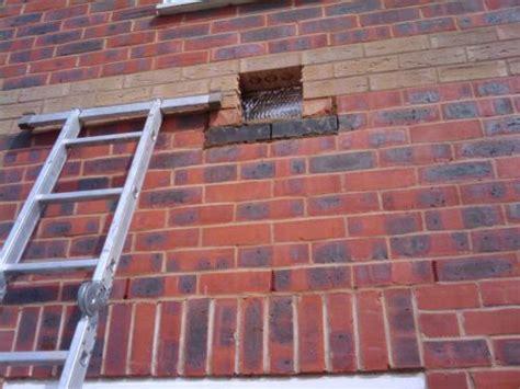 installing  padstones  engineering bricks  extension