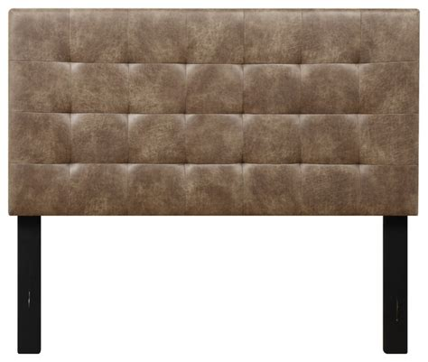 Brown Upholstered Headboard by Maverick Leather Upholstered Headboard Cowboy Brown