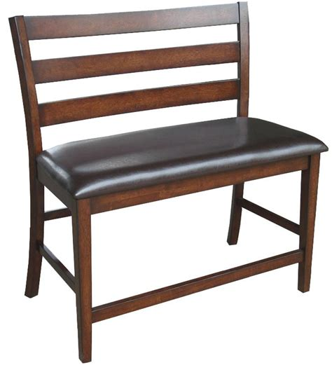 bar height bench seat intercon kona 24 inch ladder back counter height bench