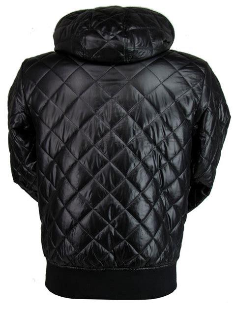 nickelson mens quilted hoodie jacket coat black ebay