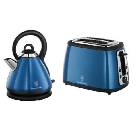 Matching Kettle And Toaster hobbs matching kettle and 2 slice toaster sky blue