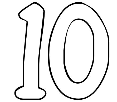 coloring pages of the number 10 color by number printables number 10 color by number org