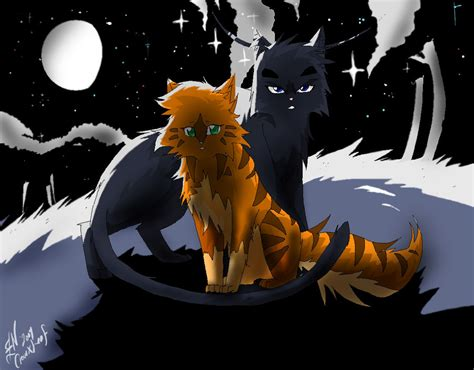 Crowfeather and Leafpool by WhiteFlameSoul on DeviantArt Leafpool And Crowfeather Mating