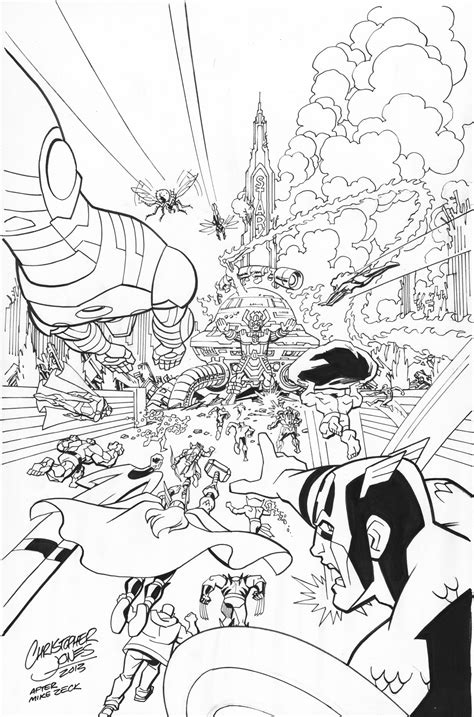avengers tower coloring pages earth s mightiest heroes christopher jones comic art and