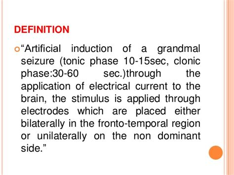 induction phase side effects electroconvulsive therapy ect