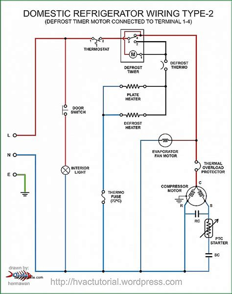 wiring diagram of domestic refrigerator free