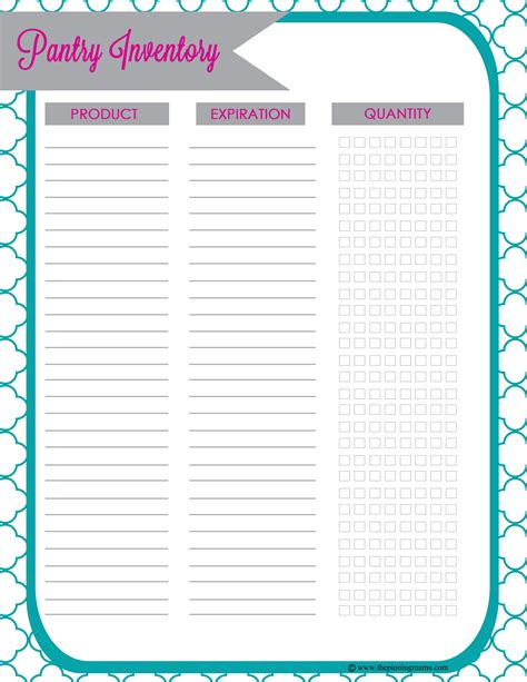 free printable grocery inventory list 5 best images of pantry inventory printable food pantry