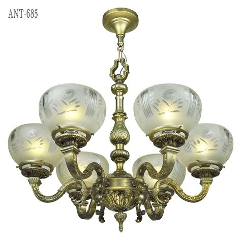 Antique 1920 Ceiling Light Fixtures Antique Chandelier 6 Arm Ceiling Light Fixture Circa 1920 Ant 685 For Sale Antiques