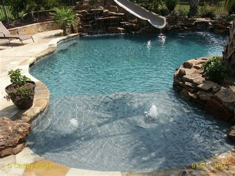 affordable pool affordable beach entry pools pool design for a tropical