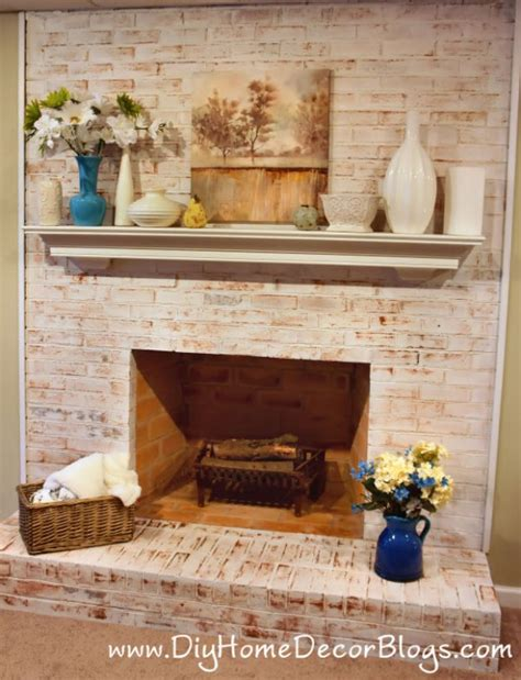 How Do You Paint A Brick Fireplace by How To Whitewash Brick 13 Cool Tutorials Shelterness