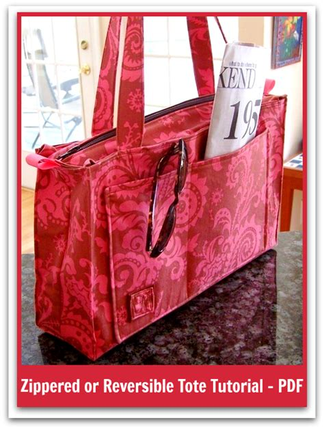 tutorial tote bag with lining sweetbriar s reversible tote pdf sewing pattern how to