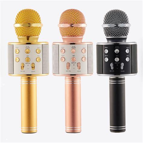 Microphone Werelles Merk Homic wireless bluetooth ws 858 microphone mic recording condenser handheld microphone stand w