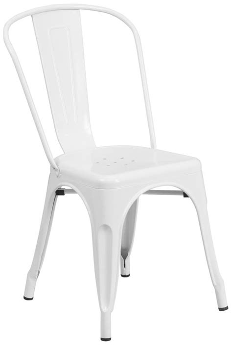 White Metal Chairs by Industrial White Metal Chair Bar Restaurant Furniture