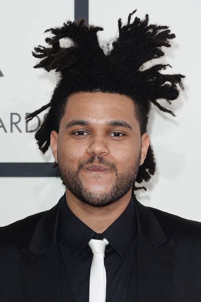 what is the weeknds hairstyle abel tesfaye photos photos arrivals at the grammy awards