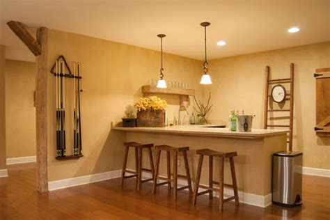Simple Basement Bar Ideas Gary Gayle Cincinnati Ohio Farmhouse Home Bar Cincinnati By Adrienne Derosa